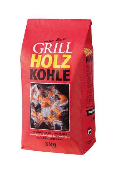 "Grillkohle ""Feuer & Flamme"" Holzkohle zum Grillen, 3 kg"