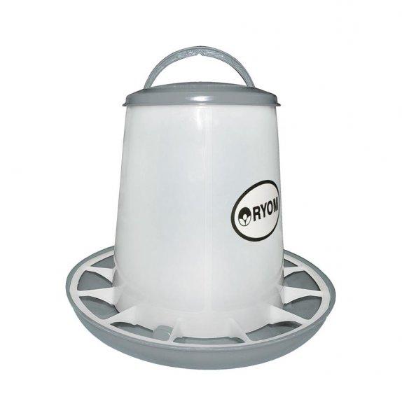 Ryom Geflügel Futterturm mit Deckel, 1,5 kg