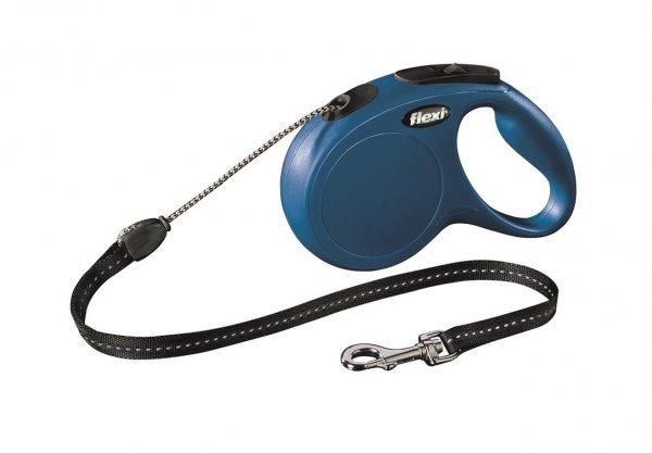 Trixie Flexi New Classic, Seil, Größe M, 5 m, blau