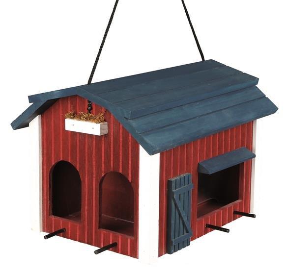 Trixie Futterhaus Scheune, 24x 22x 32 cm, rot