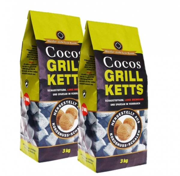 Cocos Grillketts im Sparpack, 2x 3 kg