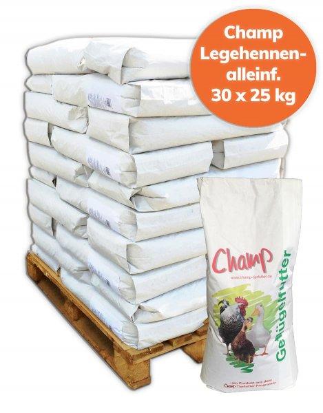 Palette Champ Legehennen-Alleinfutter für Geflügel mehlform GVO- frei, 750 kg, 30x 25 kg