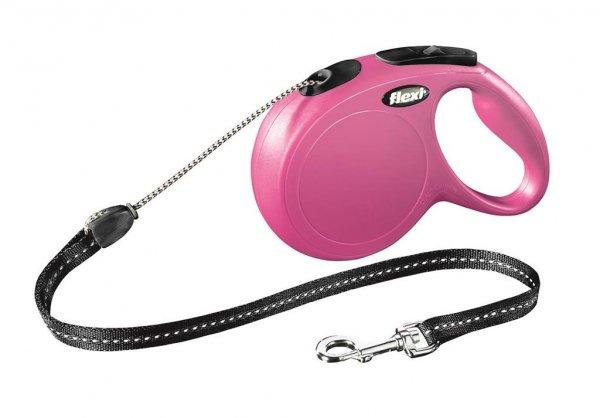 Trixie flexi New Classic Seil, M, 8 m, pink