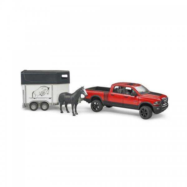 Bruder RAM 2500 Power Wagon mit Pferdeanhänger und Pferd