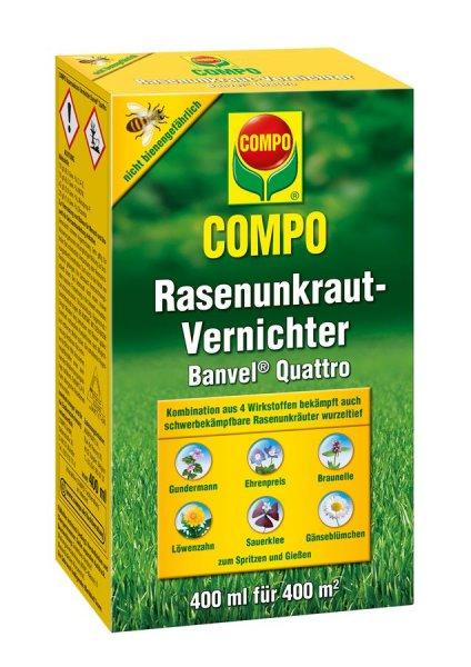Compo Rasenunkraut-Vernichter Banvel Quattro, 400 ml