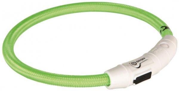 Trixie Flash Leuchtring USB, L-XL, 65 cm, grün