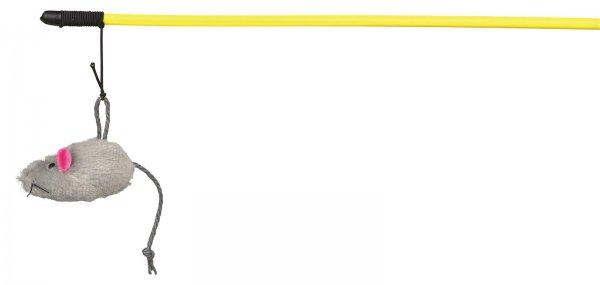 Trixie Spielangel mit Plüschmaus, 50 cm