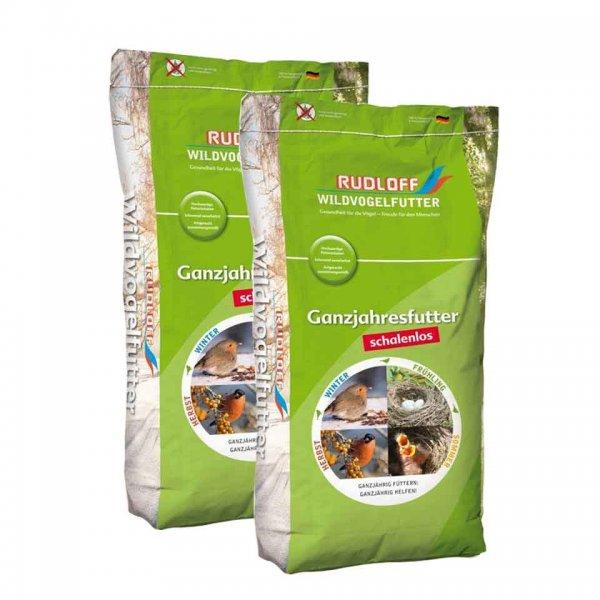 Rudloff Wildvogelfutter Energy schalenlos Sparpack, 2 x 10 kg