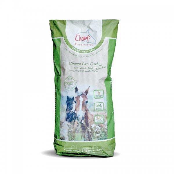 Champ Low Carb + Clino Plus für Pferde getreidefrei, 20 kg