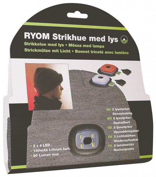 Ryom Mütze mit LED-Kopflampe vorne und hinten