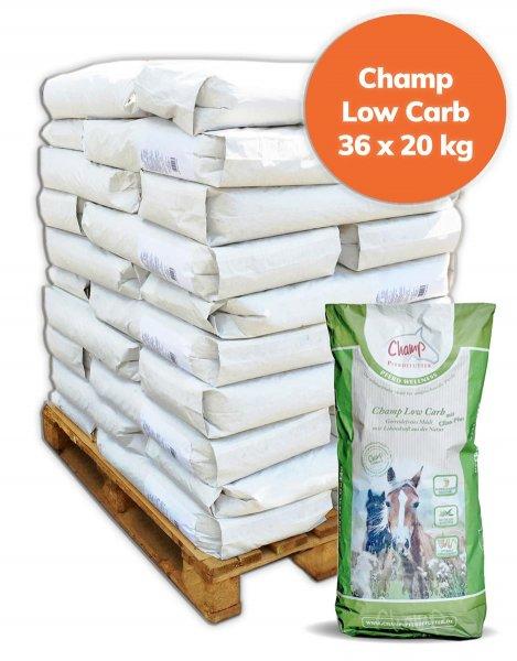 Palette Champ Low Carb + Clino Plus für Pferde getreidefrei 720 kg, 36x 20 kg