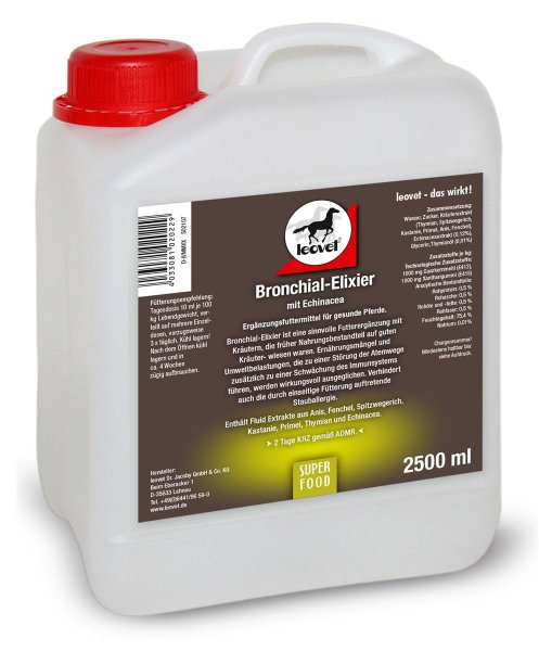 Leovet Bronchial-Elixier für Pferde, 2500 ml