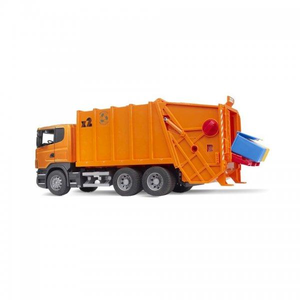 Bruder Scania R-Serie Müll-LKW, orange