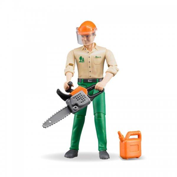 Bruder Forstarbeiter mit Zubehör