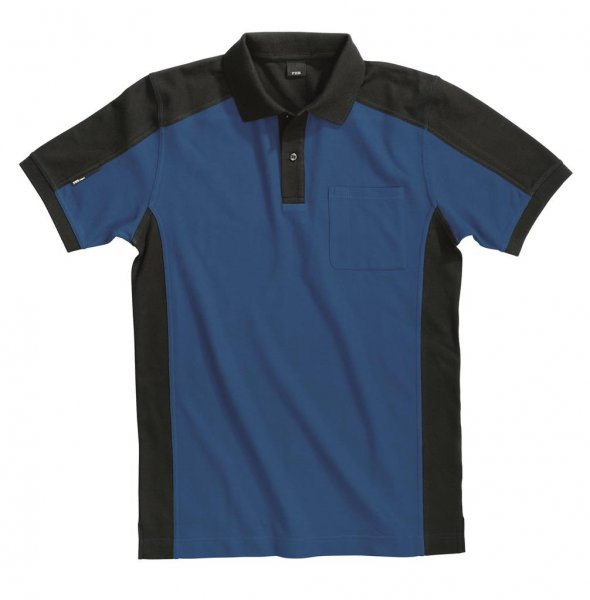 FHB Polo-Shirt Konrad, royalblau-schwarz