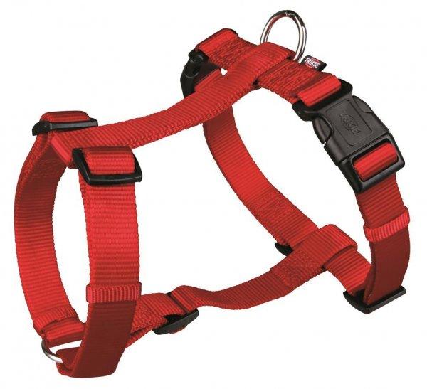Trixie Premium H-Geschirr, Größe L-XL, 75-100 cm, 25 mm, rot