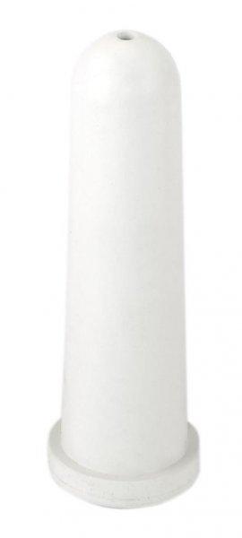 Kerbl Sauger kurz mit rundem Loch, weiß, 4 mm