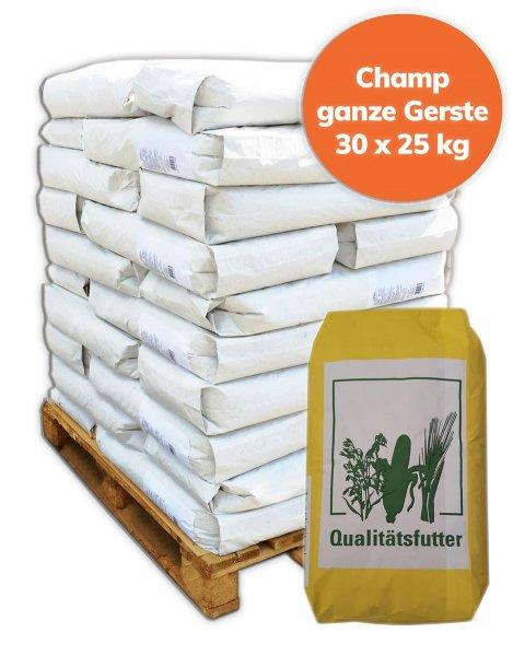 Palette Gerste 750 kg, 30x 25 kg
