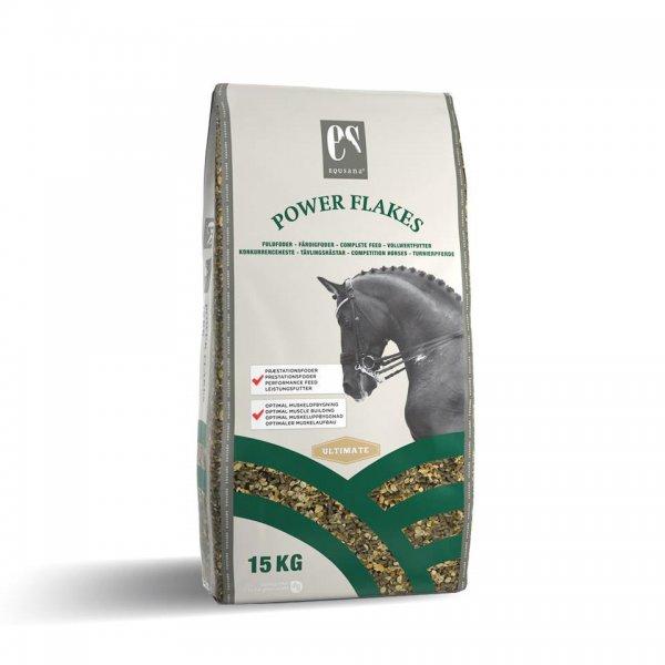 Equsana Power Flakes Vollwertfutter für Pferde, 15 kg