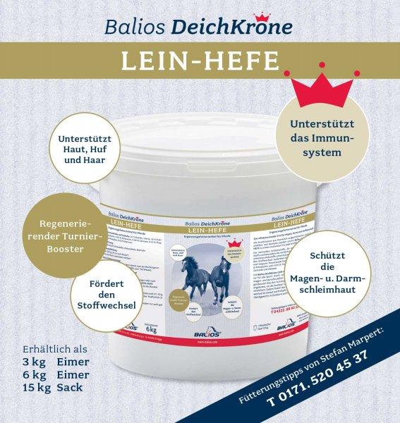 Balios Best Lein-Hefe für Pferde, 15 kg