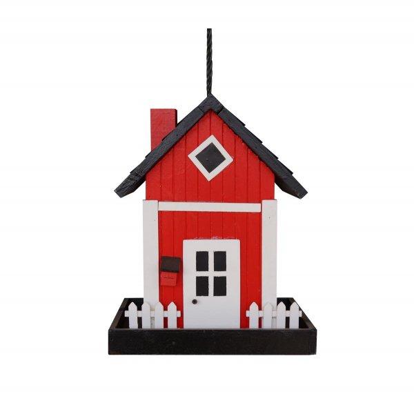 GardenLife Futterautomat Skagen, 17,5x 17,5x 22,6 cm, rot