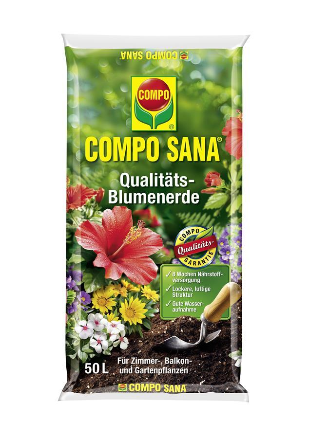 Compo Sana Qualit Ts Blumenerde 50 L Blumenerde Erden
