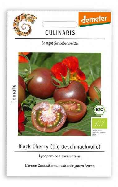 Culinaris Cocktailtomate Black Cherry, 20 Korn