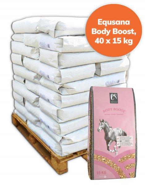 Palette Equsana Body Boost Muskelaufbau für Pferde 600 kg, 40x 15 kg