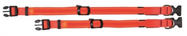 Trixie Flash Halsband, Größe S-M, 30-40 cm, 25 mm, signalorange