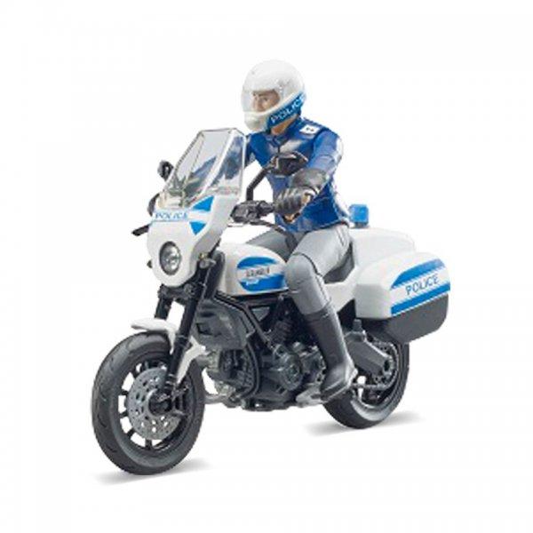Bruder bworld Scrambler Ducati Polizeimotorrad und Polizist
