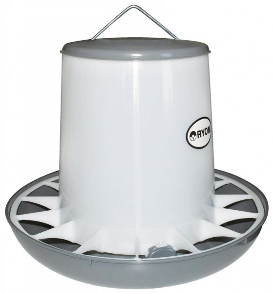 Ryom Geflügel Futterturm mit Deckel, 9 kg