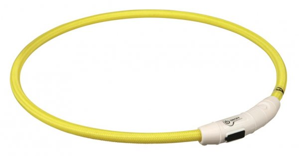 Trixie Flash Leuchtring USB, L-XL, 65 cm, gelb