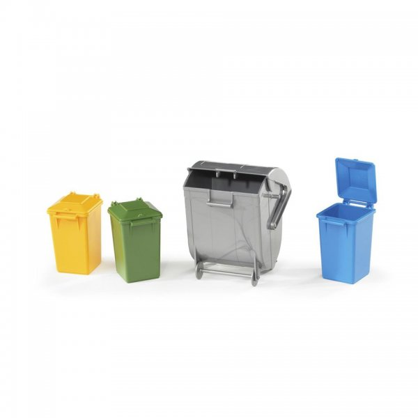 Bruder Mülltonnen-Set 3 kleine, 1 große Tonne