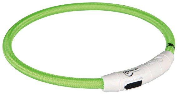 Trixie Flash Leuchtring USB, M-L, 45 cm, grün