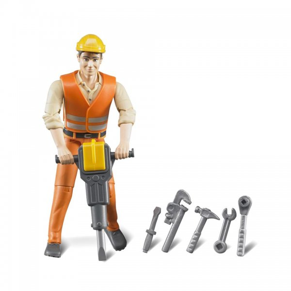 Bruder Bauarbeiter mit Zubehör