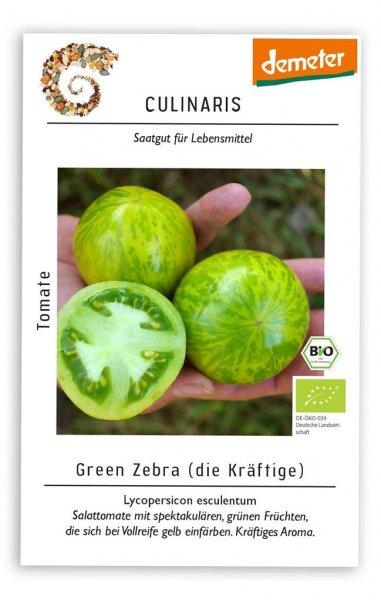 Culinaris Salattomate Green Zebra, 20 Korn