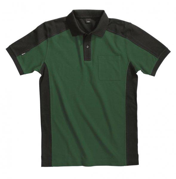 FHB Polo-Shirt Konrad, grün-schwarz