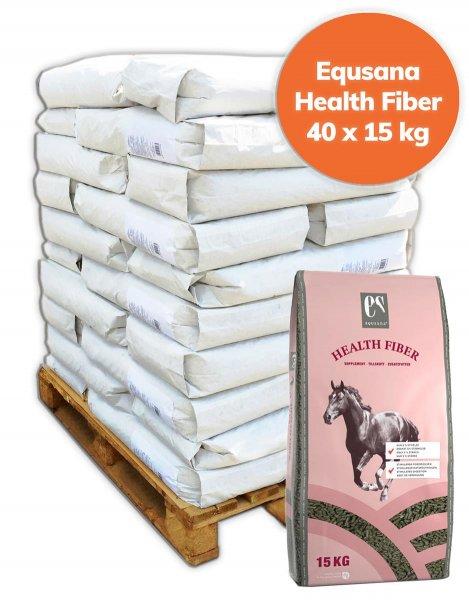 Palette Equsana Health Fiber Strukturfutter für Pferde 600 kg, 40x 15 kg