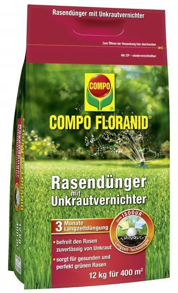 Compo Floranid Rasendünger mit Unkrautvernichter, 12 kg
