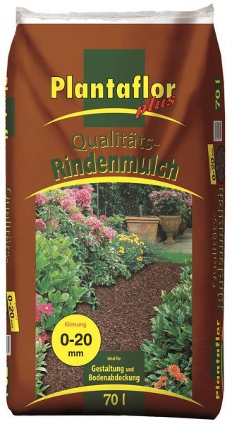 Plantaflor plus Qualitäts Rindenmulch 0-20 mm, 70 l
