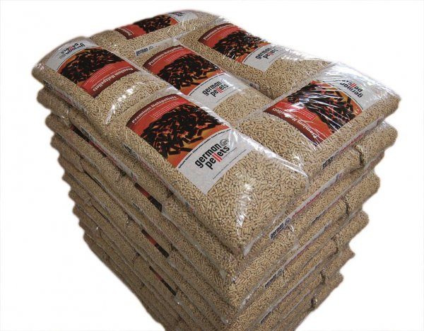 German Pellets Holzpellets 6mm 1 Palette 990 kg, 66x 15 kg