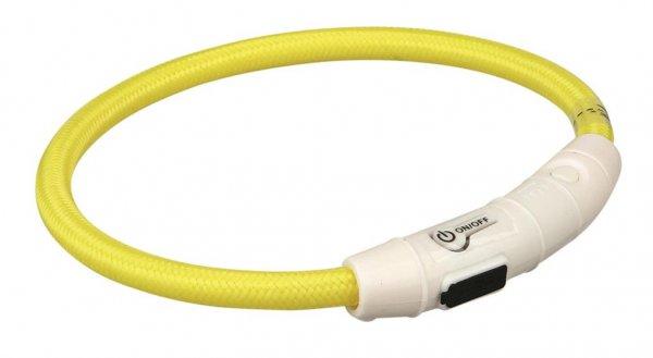Trixie Flash Leuchtring USB, XS-S, 35 cm, gelb