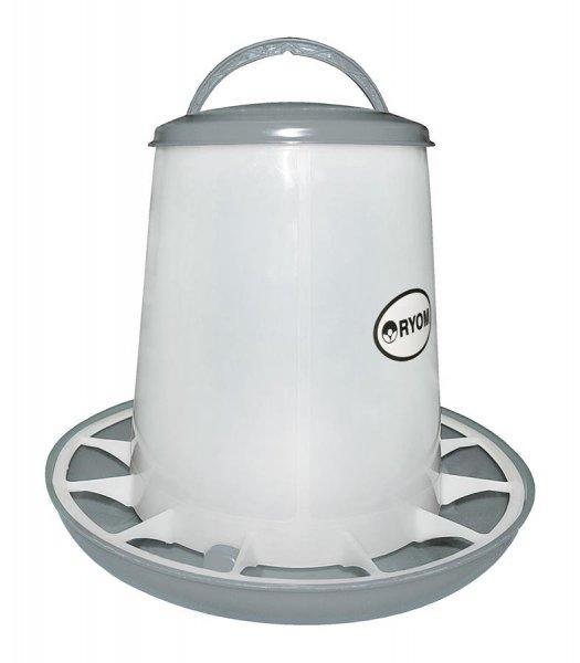 Ryom Geflügel Futterturm mit Deckel, 6 kg