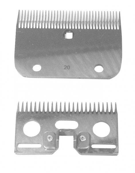 Kerbl Ersatzmesser Nr. 20 oben 24 Z., unten 35