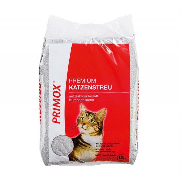 Primox Katzenstreu mit Babypuderduft, 12 kg