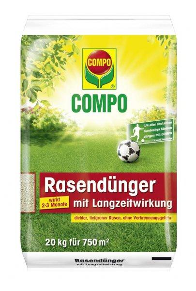 Compo Rasendünger mit Langzeitwirkung, 20 kg