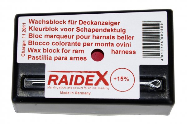 Kerbl Kreide rot, original Raidex