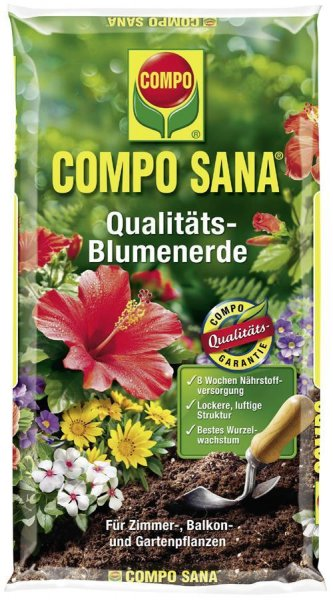 Compo Sana Qualitäts-Blumenerde, 5 l