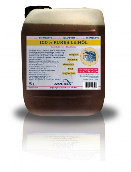 Balios Leinöl für Pferde, 5 l