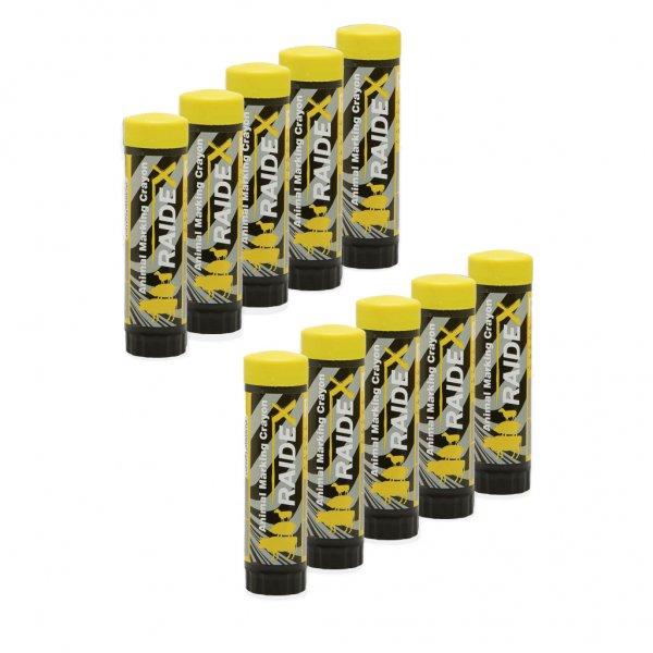 Kerbl Viehzeichenstift Raidl im Multipack, 10x gelb